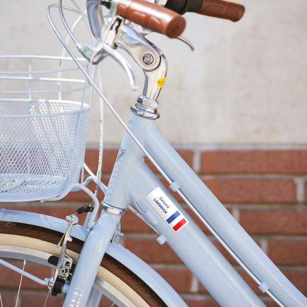Etiquettes autocollantes rectangles pour les vélos