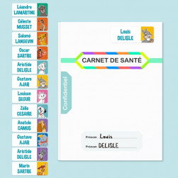 Etiquettes Autocollantes Rectangle Disney Animaux - Multi-personnalisations