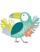 Illustrations tropical pour les étiquettes nominatives