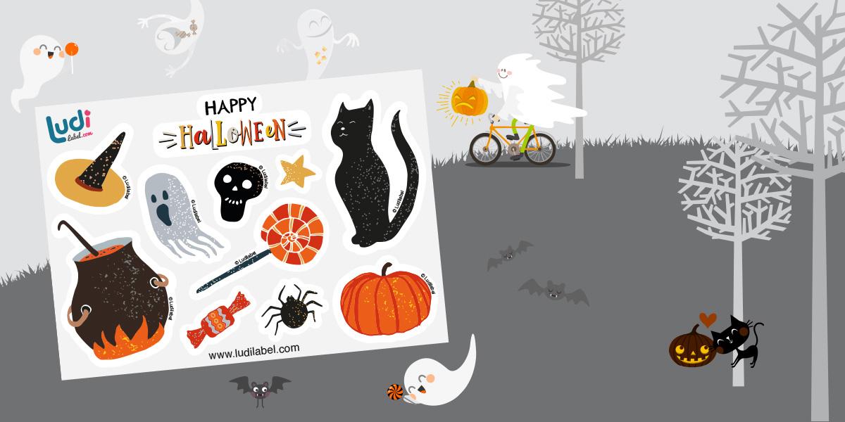 10 autocollants Halloween offerts pour toute commande