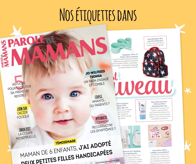 Ludilabel dans le magazine Paroles de Mamans